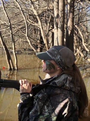 Krystle duck hunting last season