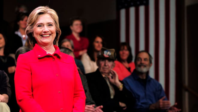 Hillary Clinton appears at a town hall in Keene, N.H., on Oct. 16, 2015.
