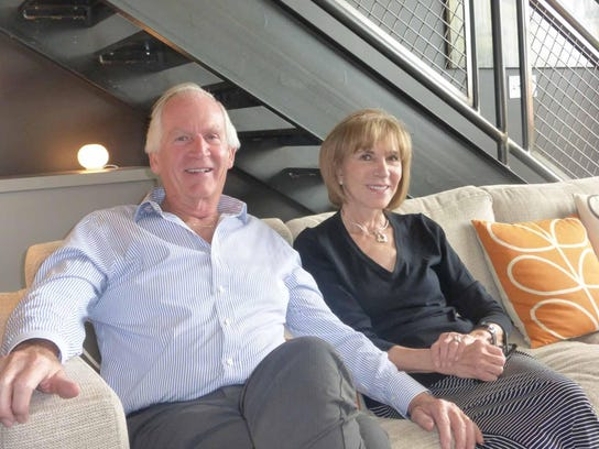 Walt and Adel Dissett, past Musical Feasts chair, are