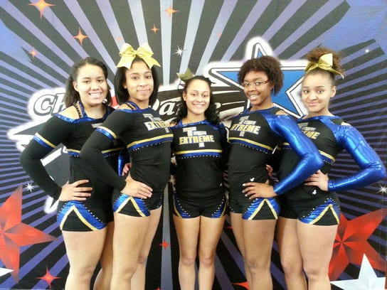William Penn students, from left, Alexis Dowling, Q'ajaniyah Miller, Courtney Brown, Shalai Tyler and Ajasia Dickson competed for Tri Town Extreme. (SUBMITTED -- VICKI LANDIS)