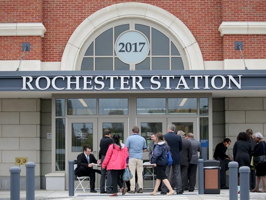 Opening of the new Rochester Station.