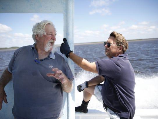 Bob Ballard, right, the director of the Wakulla Environmental