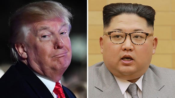 President Trump and Kim Jung Un