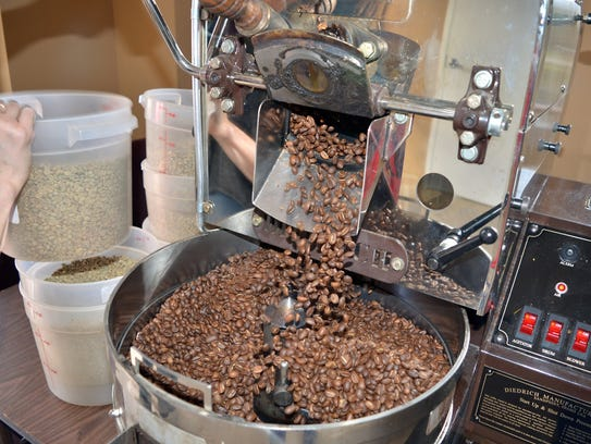 A variety of coffee beans roasted and ground in Brandon