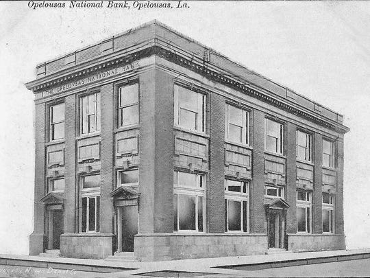 Opelousas National Bank building soon after it was