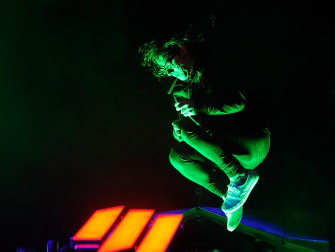 Skrillex performs at 2014 Bonnaroo Music Festival in Manchester, Tenn.
