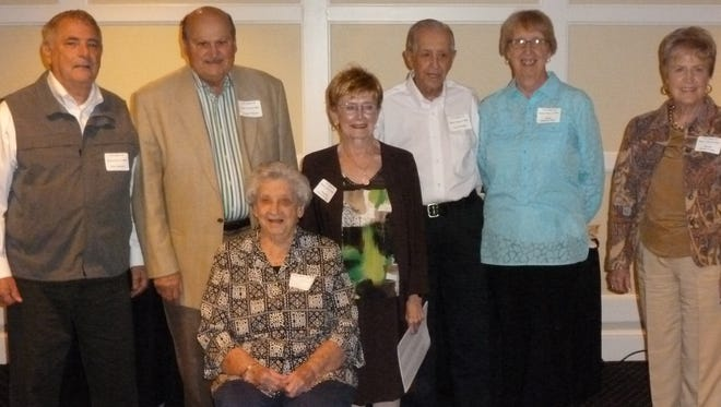 Teahcers at the reunion The FJ Reitz High School Class of 1966 held their 50th reunion recently at the Evansville Country Club and were thrilled that seven teachers were able to attend. From left are Tom Anderson, Wilmer Wittmer, Ilene Fleming (sitting), Rosemarie Norrick Urash, Loyd Webber, Diane Minton Meier and Bonnie Riney Toone. More than 220 attended, and the group enjoyed a great dinner, took lots of pictures and reflected on great memories of their formidable school years in the turbulent and historic 60s.