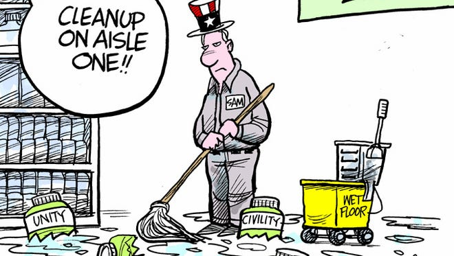 There is lots to cleanup after #election2016