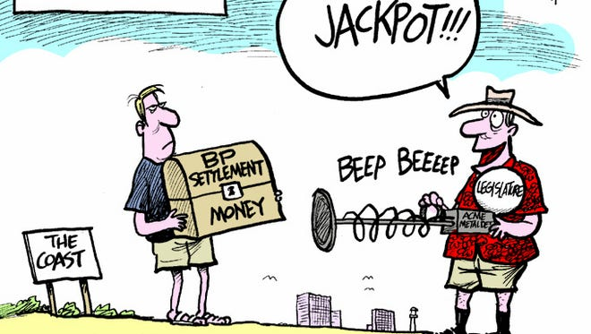 The Legislature combs the beach for money.