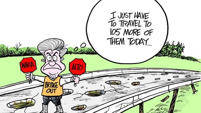 The Governor shuts down bridges.