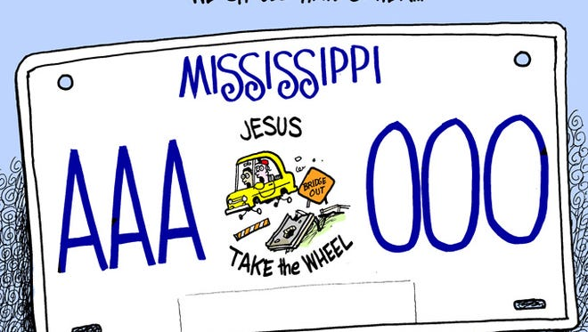 Maybe this should have been Mississippi's new car tag.