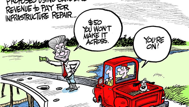 Governor Bryant proposes using gambling revenue to pay for infrastructure repair.