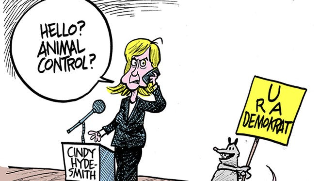 Cindy Hyde-Smith's previously life as a Democrat comes into question.