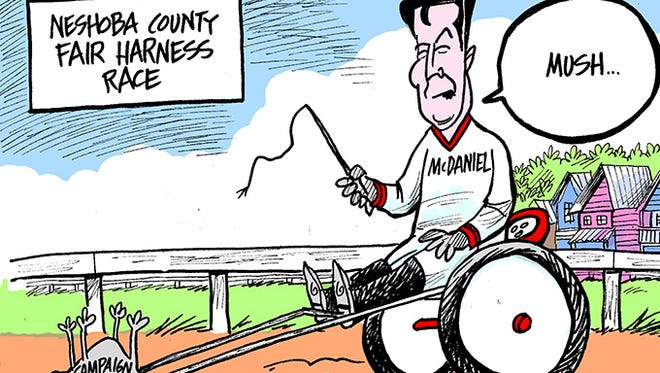 Chris McDaniel's fundraising is playing dead.
