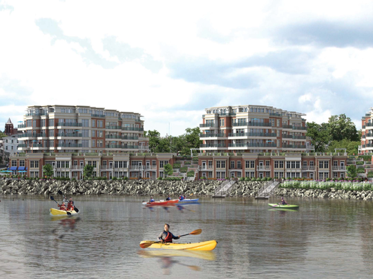 Rendering of the Tidewater development, formerly known