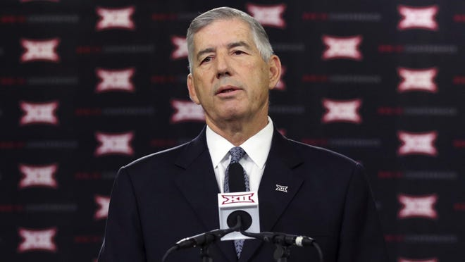 """Big 12 Commissioner Bob Bowlsby -- whose base salary was $2.5 million in 2018 -- is taking a 20% salary reduction """"for the foreseeable future,"""" according to conference spokesman Bob Burda."""