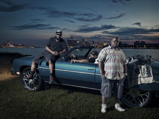 Hip-hop's Guilty, left, Hex, and PhatKat chose to pose