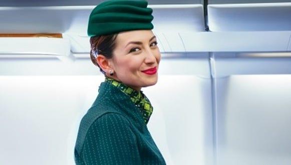 Another of Alitalia's new flight attendant uniform