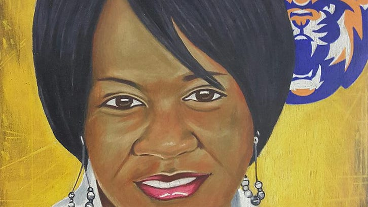 The likeness of former Louisiana College women's basketball coach Janice Joseph is depicted in a painting. Joseph will posthumously enter the Louisiana Sports Hall of Fame on June 25