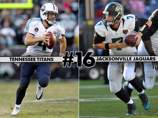 No. 16) Titans @ Jaguars: Early draft picks are all that's left for these two AFC South teams to look forward to.