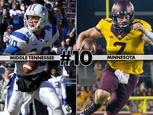 Middle Tennessee at Minnesota (3:30 p.m. ET, Big Ten Network)