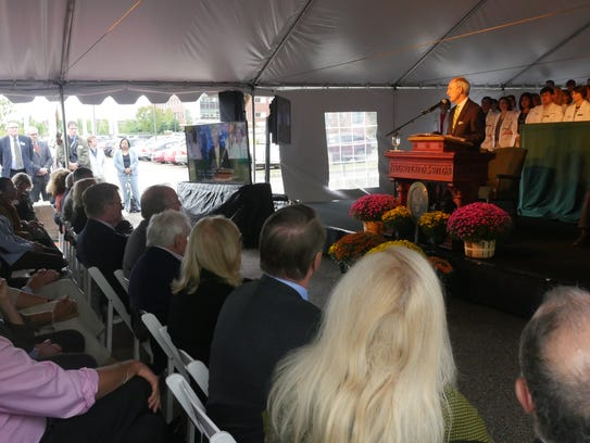 President Tom Sullivan announced the largest gift in
