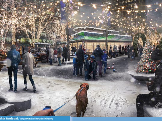 Rendering of vendor spaces to come during the Winter