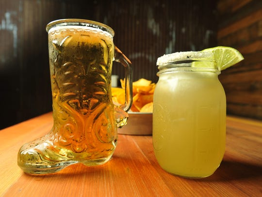 A beer boot and margarita at Bakersfield, 334 Massachusetts