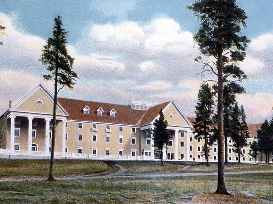 An undated historic postcard of the Lake Hotel was the work of Frank J. Haynes.