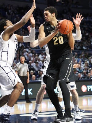 Purdue center A.J. Hammons (20) averages 15.4 points,10.6 rebounds and 3.8 blocks in five career games against Penn State.