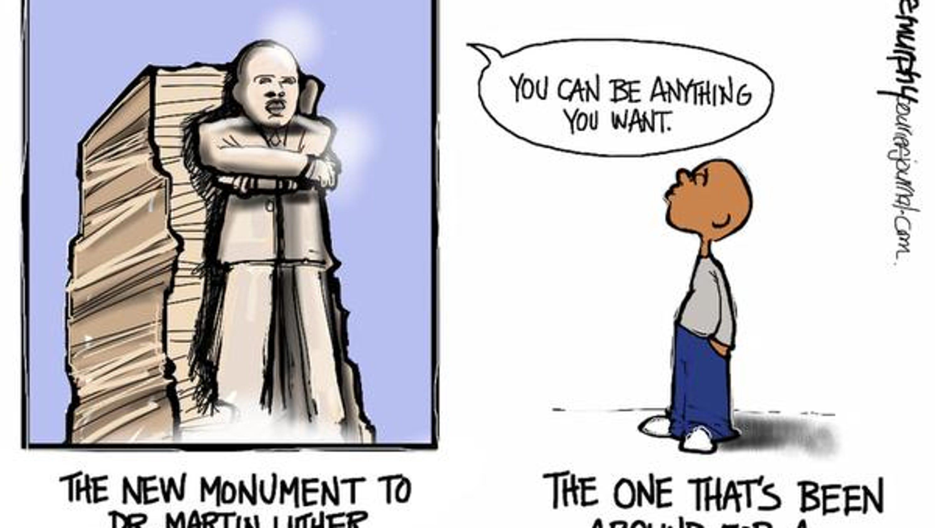 Editorial cartoons: Martin Luther King Jr.