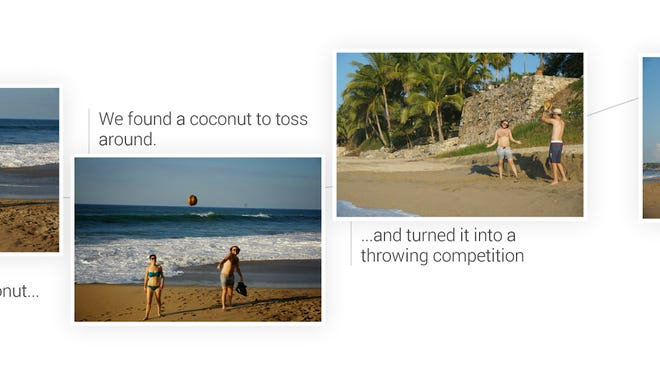 Google Stories automatically culls through vacation photos and creates mini-albums.
