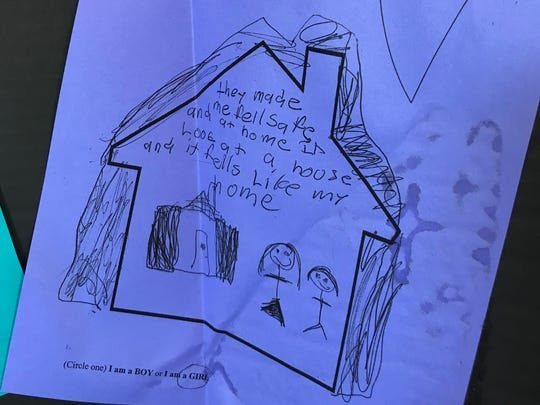 A message from a 9-year-old girl who visited the center