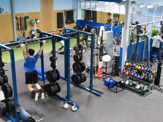 A client working out at Eastpointe Health & Fitness in Atlantic Highlands.