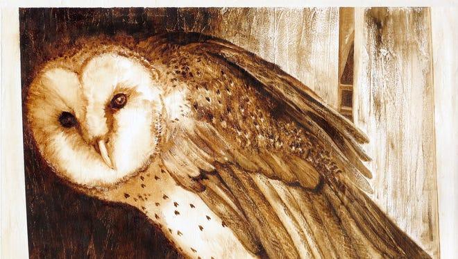 Owl Interrupted by Tiffanie Owen.