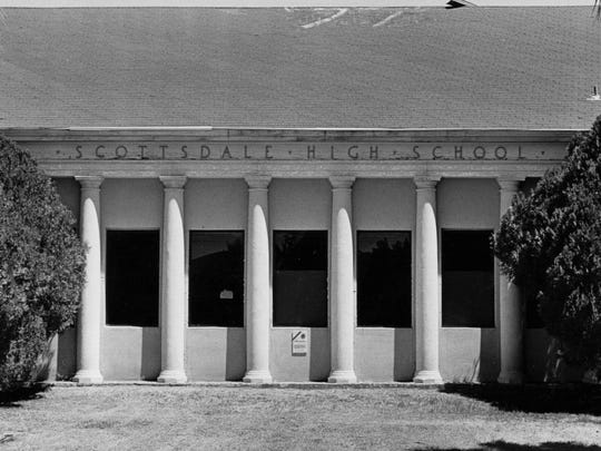 Scottsdale High School in 1987.