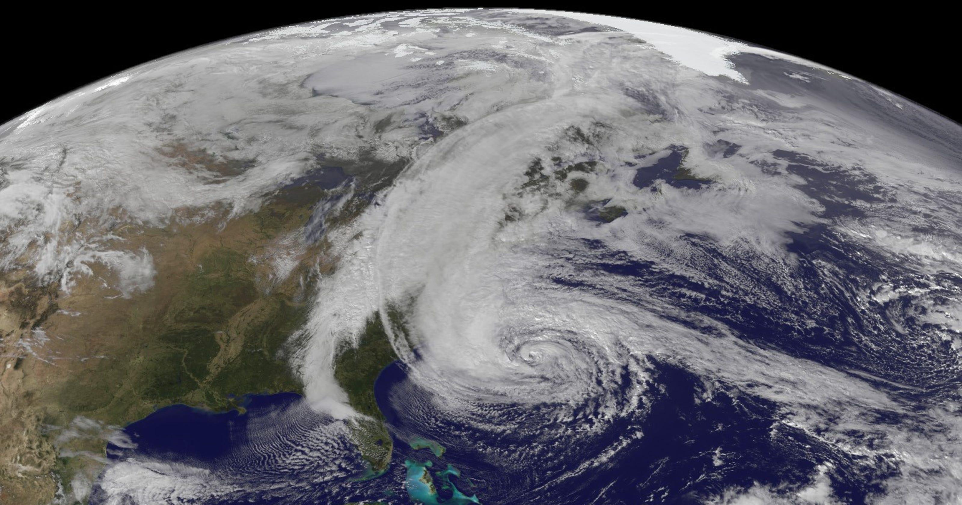 hurricane sandy atlantic ocean nasa - HD3200×1680