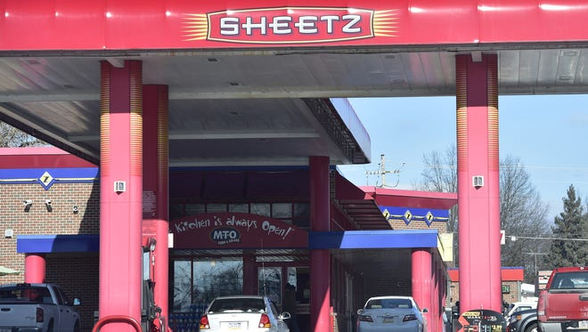 A Chambersburg Sheetz store is pictured in January 2016.