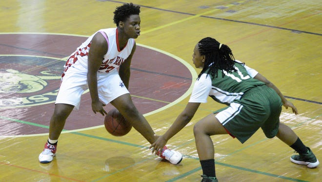 Milwaukee Pulaski sophomore Shattima McFarland, shown here in a game from last season, scored 57 points Thursday in a victory over Milwaukee Carmen Northwest.