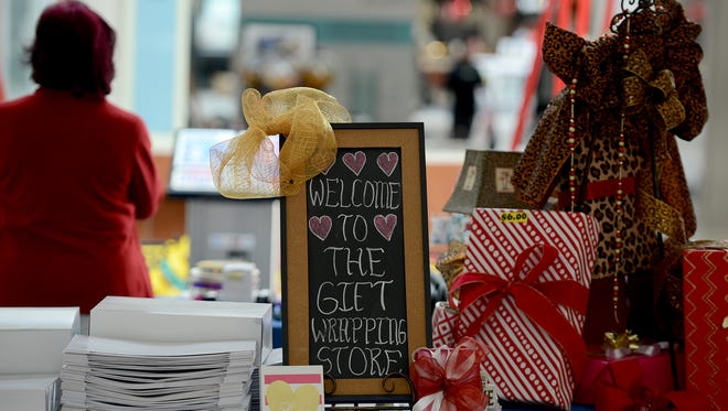 Shirley Love offers Valentine's Day gift wrapping at Old Hickory Mall.