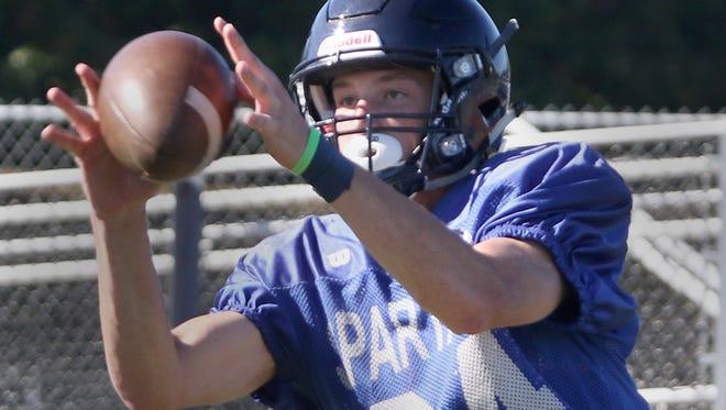 Bainbridge senior receiver Ethan Peloquin earned All-Metro League Mountain Division second-team honors last season.