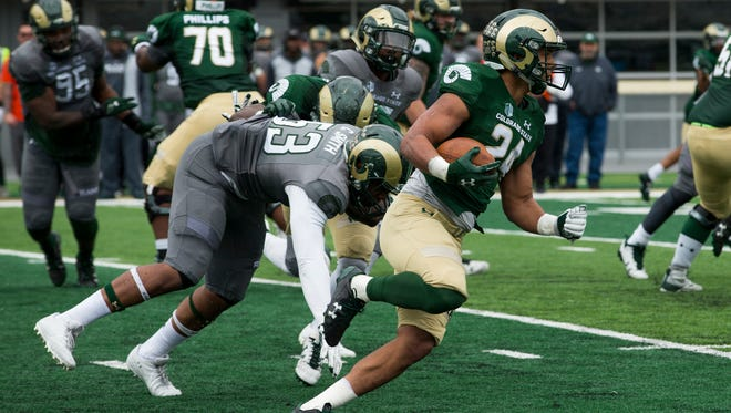CSU running back Izzy Matthews led the running game for the Rams in Saturday's spring game.