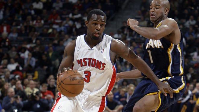 Detroit Pistons Rodney Stuckey.