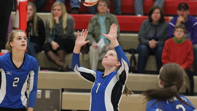 Merrill senior Emily Page led the Wisconsin Valley Conference in both assists and serving percentage this fall.