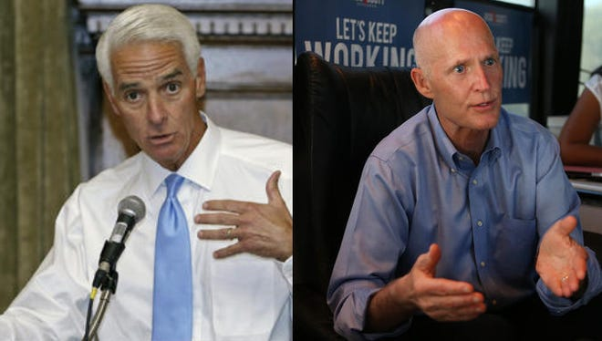 Charlie Crist and Rick Scott are set to debate today