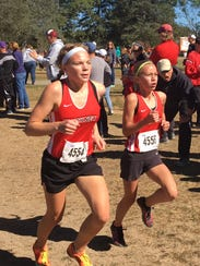 Pinckney's Vivi Eddings (right) and Noelle Adriaens
