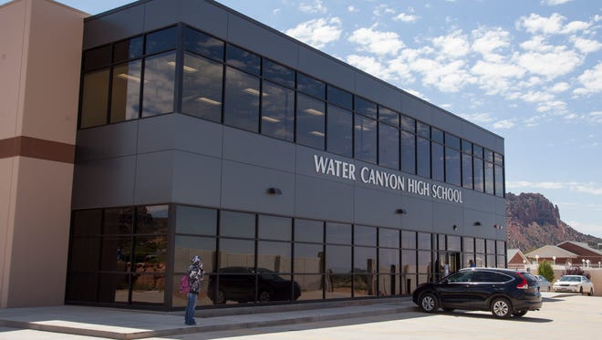 Water Canyon High School students moved into their new facility last month, occupying a building on the school campus that used to be a storehouse in Hildale, as shown Wednesday, May 11, 2016.