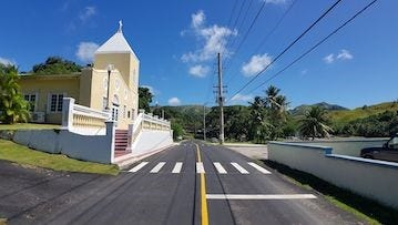 A stretch of road in Umatac has recently been repaved, and the governor's office said more projects will be coming in the future.