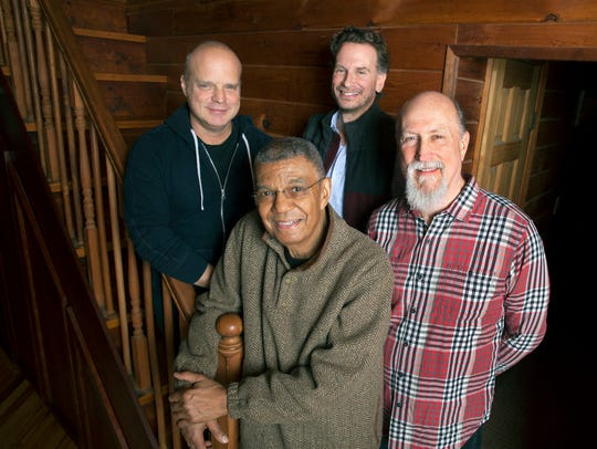 The ensemble Hudson with, from left, John Medeski,