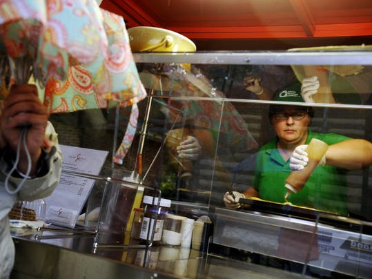 City Council has moved an ordinance that would allow more food carts downtown to its legislative agenda. (York Daily Record/Sunday News -- File)
